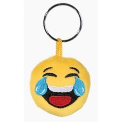 Porte-clé Emoticon en peluche avec les larmes