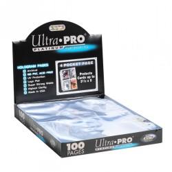 Boite platinum de 100 feuilles Ultra Pro à 4 cases pour classeur