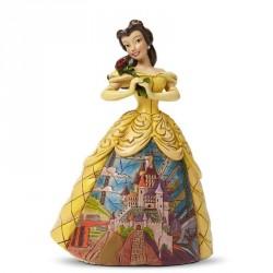 Figurine Disney Tradition Belle en Robe de Bal Château Disney - Enchanted