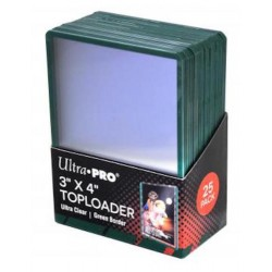 Protège-cartes Ultra Pro Toploader bord Vert
