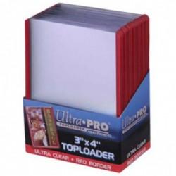 Protège-cartes Ultra Pro Toploader bord Rouge