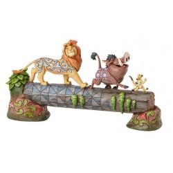 Figurine Disney Tradition Simba, Timon et Pumbaa - Carefree Camaderie