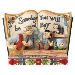 Figurine Disney Tradition Storybook Pinocchio avec Gepetto et ses amis