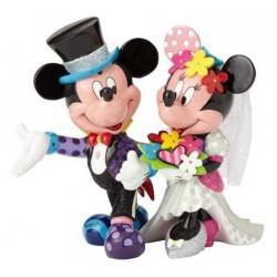 Figurine Disney Britto Mickey et Minnie mariés