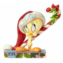Figurine Looney Tunes by Jim Shore Titi Noël - Christmas Tweety