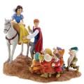 Figurine Disney Enchanting Blanche Neige et les Sept Nains - A Joyfull Farewell