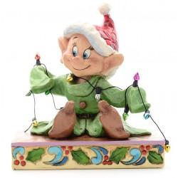 Figurine Disney Tradition Simplet et la guirlande de Noël