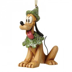 Figurine Disney Tradition Suspension Pluto Noël