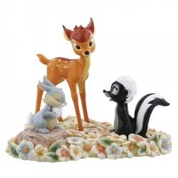 Figurine Disney Enchanting Bambi, Panpan et Fleur - Pretty Flower