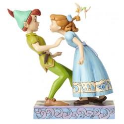 Figurine Disney Tradition Peter et Wendy 65ème Anniversaire - An Unexpected Kiss