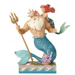 Figurine Disney Tradition Ariel et Triton - Daddy's Little Princess