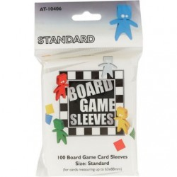 Board Game Sleeves 100 pochettes Standard 63 x 88 mm