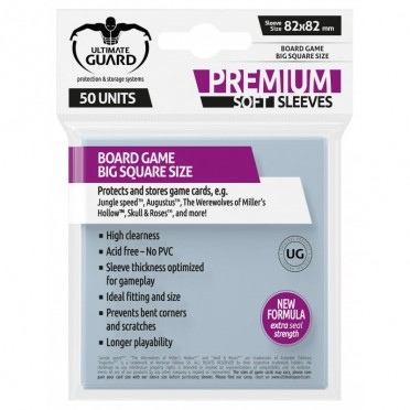 Protège-cartes Ultimate Guard transparente Premium Big Square