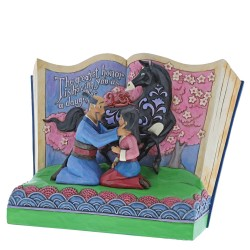 Figurine Disney Tradition Storybook Mulan 20ème Anniversaire