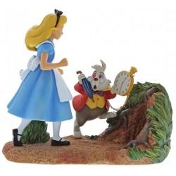 Figurine Disney Enchanting Alice au Pays des Merveilles et le Lapin Blanc