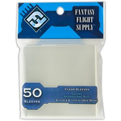 Board Game Sleeves 50 pochettes Square 70 x 70 mm