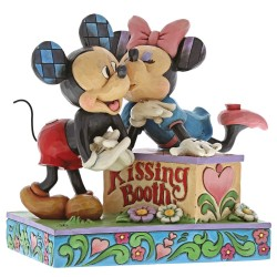 Figurine Disney Tradition Mickey et Minnie et le kiosque à bisous - Kissing Booth