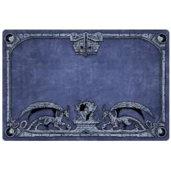 Tapis de jeu Dragon Shield illustré - Bleu