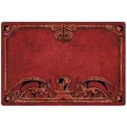 Tapis de jeu Dragon Shield illustré - Rouge