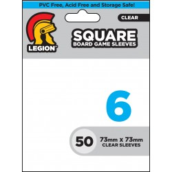 Board Game Sleeves 50 pochettes Square 73 x 73 mm