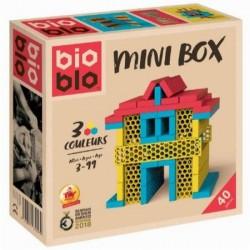 BIOBLO Mini box 40 briques 3 couleurs