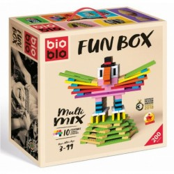 BIOBLO Fun box 200 briques 10 couleurs