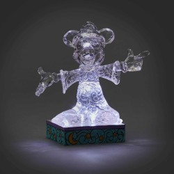 Figurine Disney Tradition Mickey glace sculptée lumineuse - Ice Bright Sorcerer Mickey
