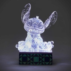 Figurine Disney Tradition Stitch glace sculptée lumineuse - Ice Bright Stitch