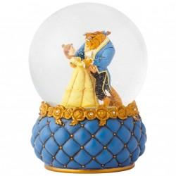 Figurine Disney Showcase La Belle et la Bête dans boule à paillettes - Beauty and The Beast Watterball