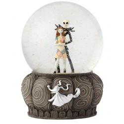 Figurine Disney Showcase Jack et Sally dans boule à paillettes - The Nightmare Before Christmas Watterball