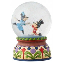 Figurine Disney Tradition Casse-Noisette dans boule à paillettes - Nutcracker Musical Waterball