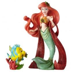 Figurine Disney Showcase Haute Couture Ariel et Polochon Noël - Christmas Ariel with Flounder