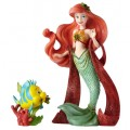 Figurine Disney Showcase Haute Couture Ariel et Polochon Noël - Christmas Ariel with Flounder