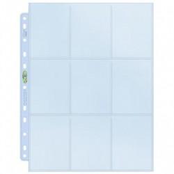 Feuilles Ultra Pro 9 cartes pour classeur lot de 10 feuilles