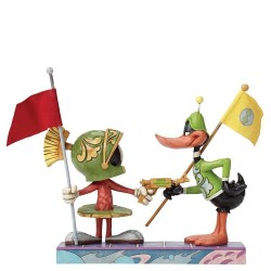 Figurine Looney Tunes by Jim Shore Marvin le Martien et Daffy Duck