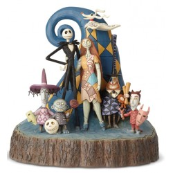 Figurine Disney Tradition Jack Skellington et Sally - Carved by Heart Nightmare Before Christmas