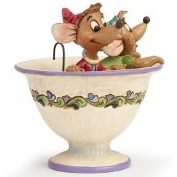 Figurine Disney Tradition Jaq et Gus dans la tasse - Tea For Two