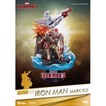 Figurine Disney Iron Man 3 diorama PVC D-Select Iron Man Mark XLII 15 cm