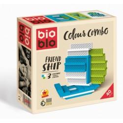 BIOBLO Mini box 40 briques 3 couleurs - Frienship