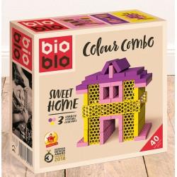 BIOBLO Mini box 40 briques 3 couleurs - Sweet Home