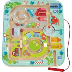 Jeux de société - Jeu magnétique Ville labyrinthe