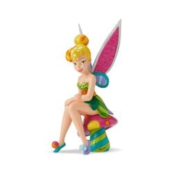 Figurine Disney Britto La Fée Clochette assise sur un champignon - Tinker Bell on Mushroom