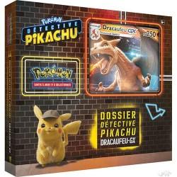 Coffret Pokémon Français - Dossier Détective Pikachu : Dracaufeu-GX (6 boosters)