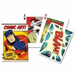 Jeu 54 cartes illustrées Piatnik - Comic Art !