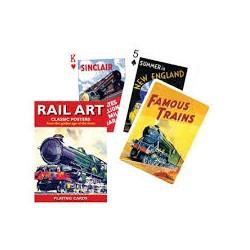 Jeu de cartes Piatnik de 54 cartes illustrés Rail Art