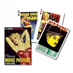 Jeu de cartes Piatnik de 54 cartes illustrés Classic Movie Posters
