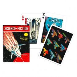 Jeu de cartes Piatnik de 54 cartes illustrés Science - Fiction