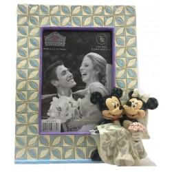 Figurine Disney Tradition Cadre Photo Mickey et Minnie - Mickey & Minnie Wedding Frame