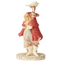 Figurine Disney Tradition Aurore et ses amis de la Forêt - Aurora as Briar Rose Woodland Friends
