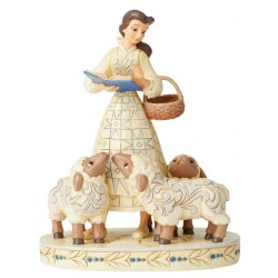Figurine Disney Tradition Belle et les moutons blanc - Belle With Sheep